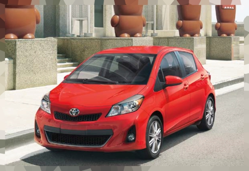 2012 Yaris parts and accessories page